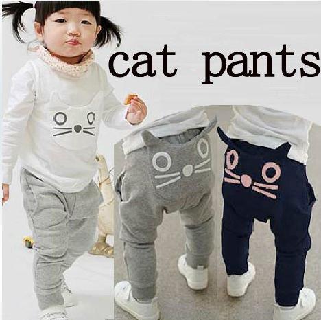 5c062d275 hot sale new baby clothing cute cat design pants kids girls boys ...