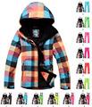 Gsou snow Black Color Box Women Ski Suit sets Windproof Waterproof Ladies Snowboard clothing Warm winter