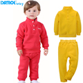 DANROL Kids Tracksuit Warm Autumn Winter Thickened Children Sweater Suit Fleece Outfits Clothing Set For Boys
