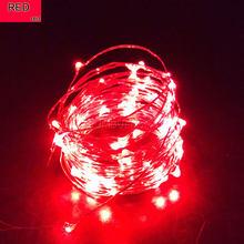 Светодиодная гирлянда, 1 м, 2 м, 3 м, 4 м, 5 м, 10 м, на батарейках типа АА, с usb-управлением, водонепроницаемая, для украшения дома и отдыха(Китай)
