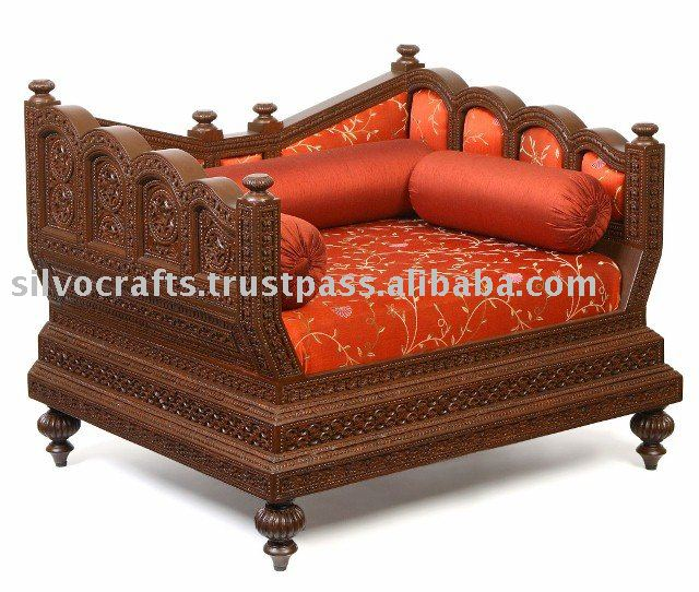 Indian Rajasthani Hand Carved Sofa Set By Classic