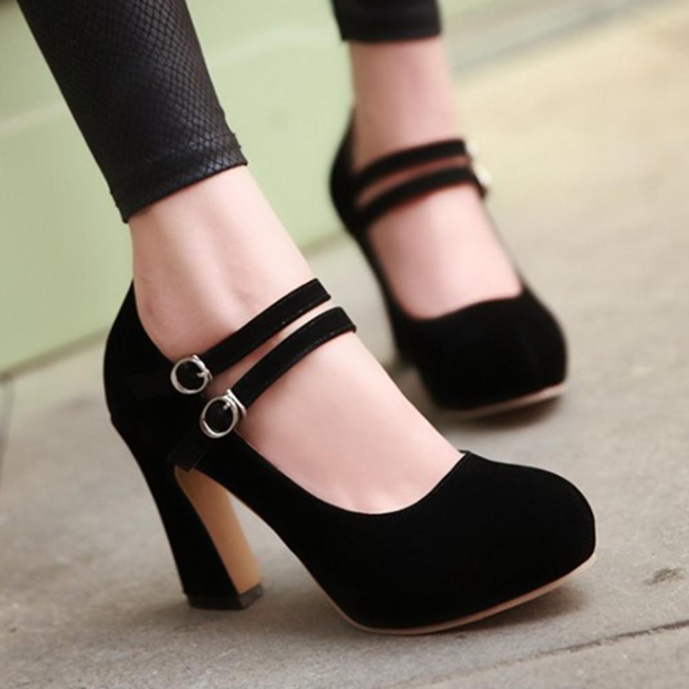 6f85ee8b2d1e59 Women S Chunky Heel Shoes - Heels Zone