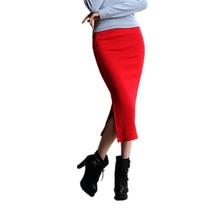 Sexy dlouhá strečová sukně úzkého střihu