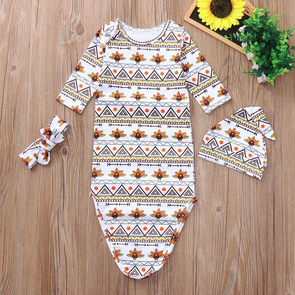 2018 Muqgew Newborn Baby Girl Clothes Set Swaddle Sleeping Blanket