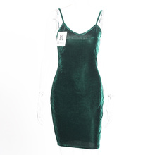 0dfe276c2a Buy velvet green dress and get free shipping on AliExpress.com