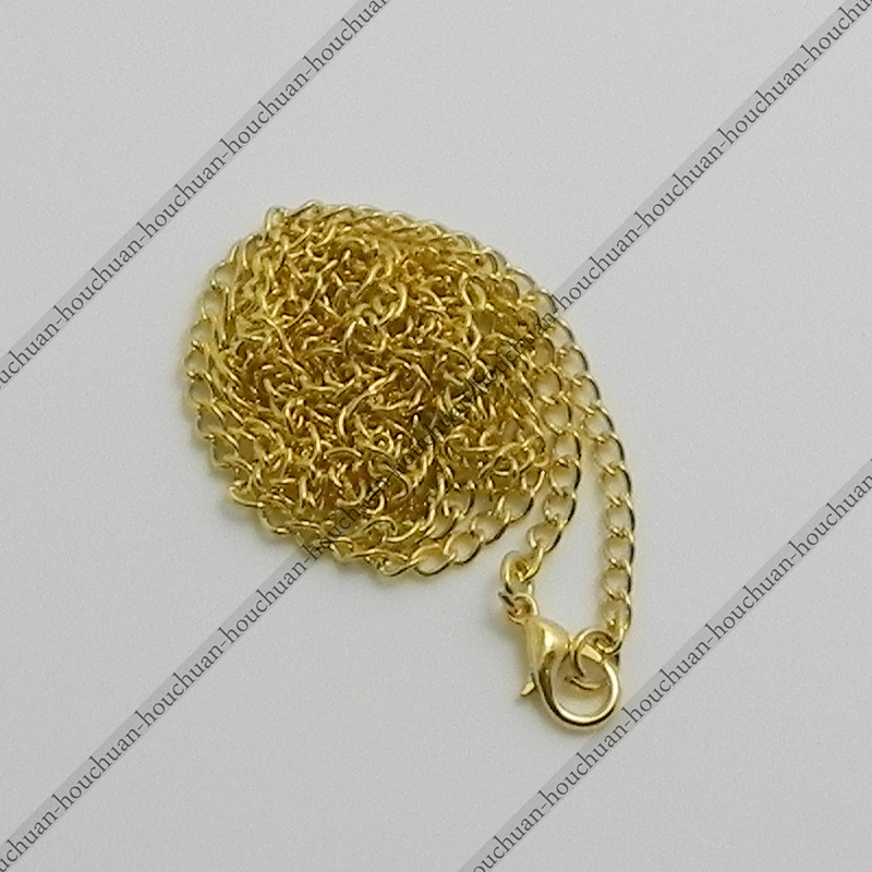 Новые 5 шт. 80 см / 2.62FT 18 К позолоченный сплав мода мужчины женщины карманные часы цепи ожерелье твист овальный сеть