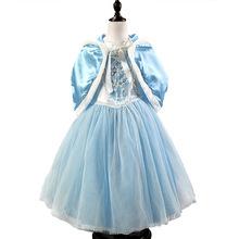 Meninas crianças vestido de crianças vestido Vestidos Vestidos de Cosplay Elsa princesa Anna Vestidos de casamento