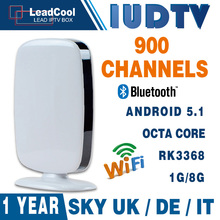 RK3368 Android 5.1 Octa Core Android Tv Box 1G/8G Android Set Top Box With 1 Year Iudtv Iptv Subscription Sky Europe 900 Channel