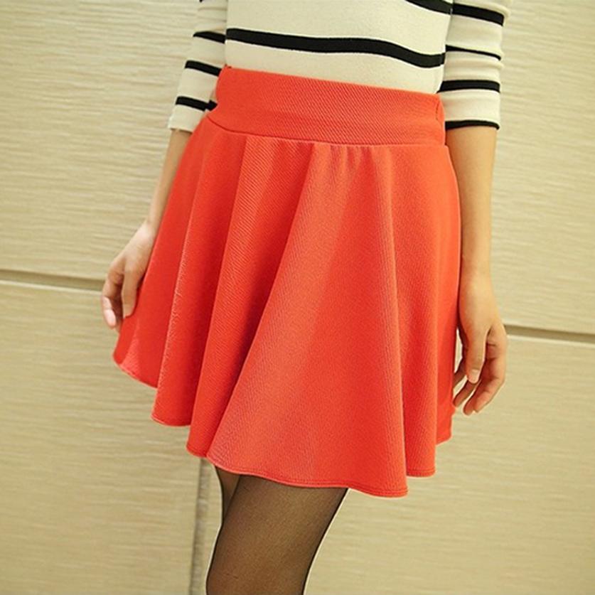 bf983383c5c ... SHOWME New Sexy Women Skirt Fashion Fall Winter Skirts Plus Size XL  High Waist Pleated Skirt