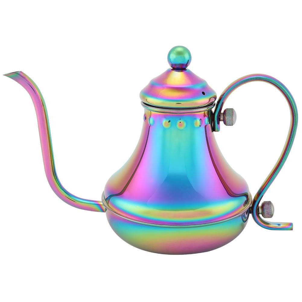 ГОРЯЧИЙ ручной заваренный кофе чайник ручной капельная Кофеварка из нержавеющей стали волшебный цвет кофейник(Китай)