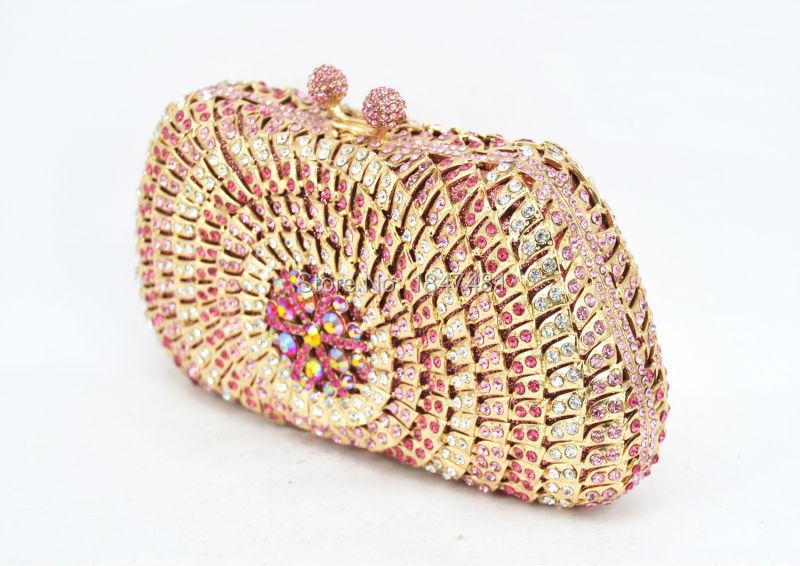 4747d9345d3c Pink Evening Dress Bag Women Dinner Clutch Bag Pochette Soiree Lady ...