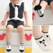 0 2Y Kids Baby Boys Girls Socks Cotton Knitted Anti Slip Short Socks Breathable Socks