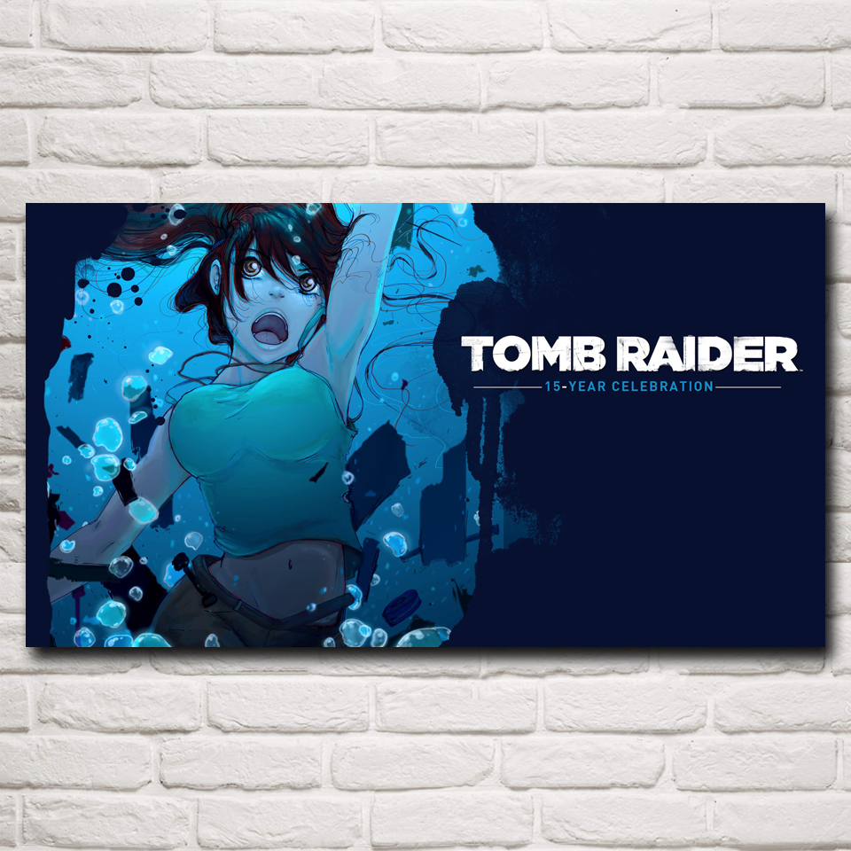 Rise Of The Tomb Raider Art Silk Fabric: Pc Games Tomb Raider Promotion-Shop For Promotional Pc