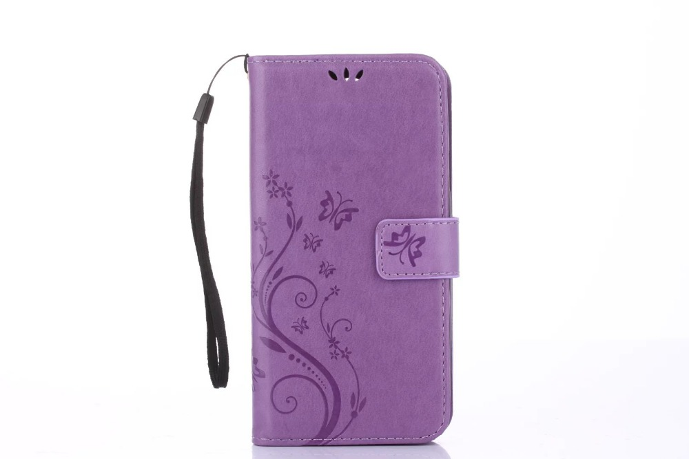 100Pcs/Lot Butterfly Printing Wallet PU Leather+TPU Case For Google Pixel/Pixel XL/For HTC 626/For Alcatel PIXI 3/For LG LS770