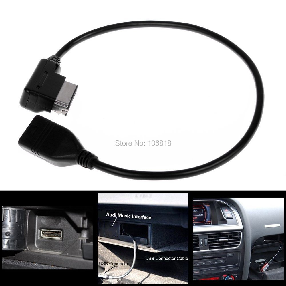 music interface ami mmi mp3 usb audio adaptor cable for audi a3 a4 s4 a5 s5 a6 s6 a8 s8 q5 q7 r8. Black Bedroom Furniture Sets. Home Design Ideas