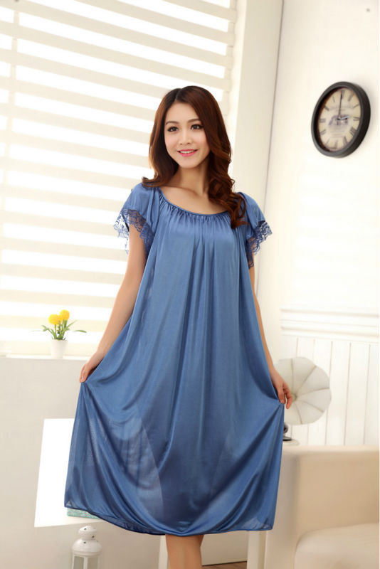 d6a44b57a Summer sexy maternity clothes sleepwear long silk nightgowns pajamas tops  for pregnant women maternal pajama prenatal