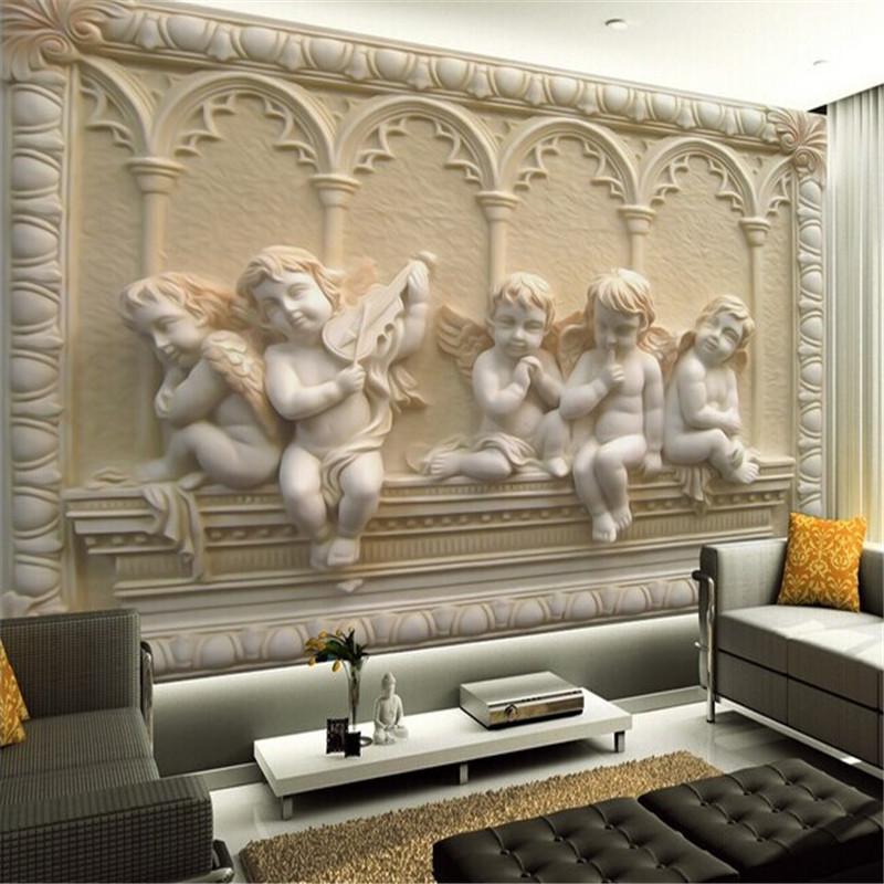 Custom 3d Mural Wallpaper European Style 3D Stereoscopic