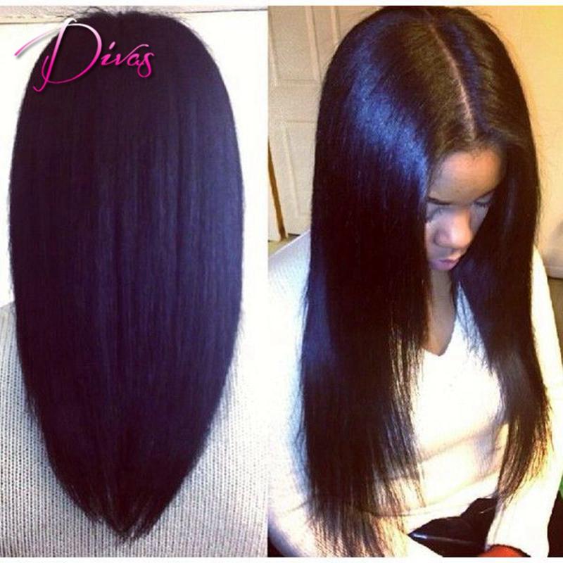 Aliexpress Com Buy Light Yaki Full Lace Human Hair Wigs