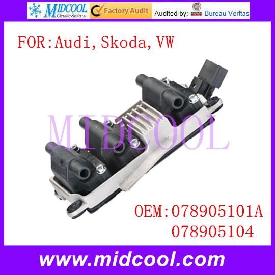 Новый катушка зажигания использования OE no. 078905101a, 078905104 для Audi Skoda VW