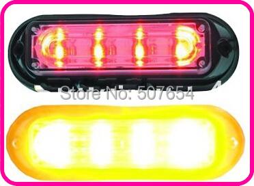 4 шт GENIII 1 W из светодиодов гриль lighthead, Линейный lightheads, Для наружного монтажа автомобиль из светодиодов стробоскоп лёгкие