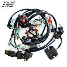 TDR Motorcycle Parts  Wire Loom Harness Solenoid Magneto Coil Regulator CDI GY6 150cc ATV Quad Engines Accessories HHY