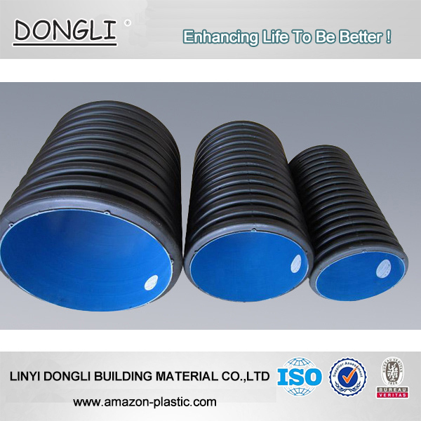 Specifications & Large Diameter Black SN8 PE Double Wall Corrugated HDPE Plastic ...