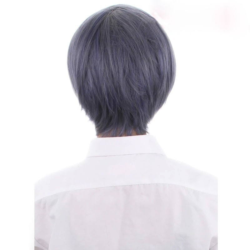Аниме черный батлер Ciel Phantomhive косплей 2015 новинка женщин / мужская короткие серый и синий смешанные многоуровневая короткий парик BE3001