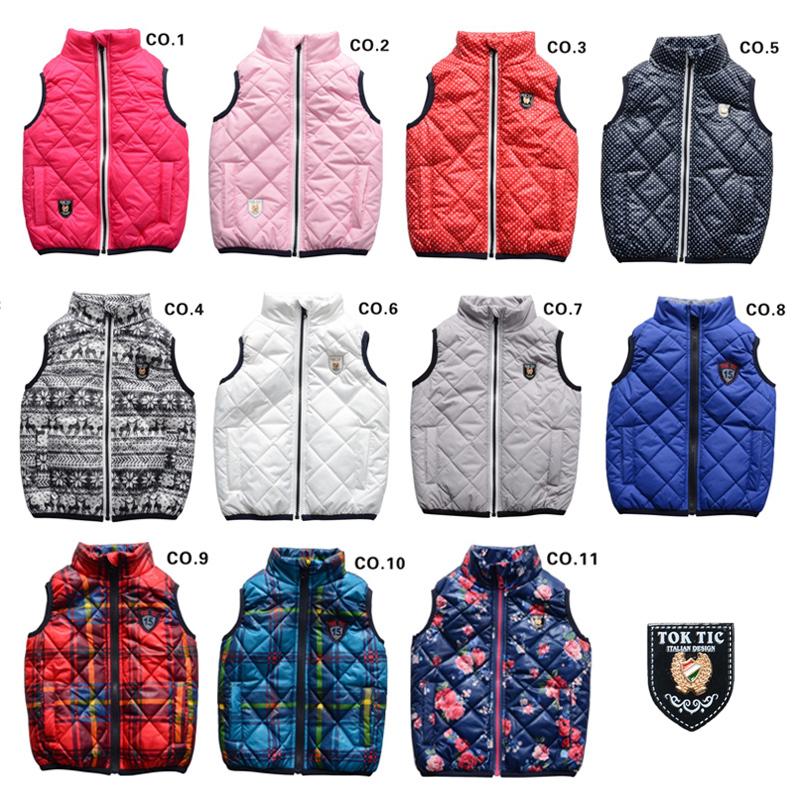 5f0727424984 TOK TIK brand kids spring   autumn unisex warm vest kids boys vests ...
