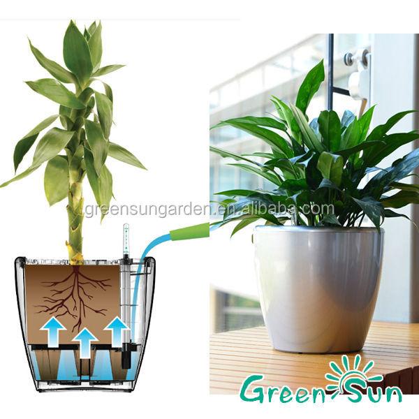 Aquas27 Greensun Nursery Self Watering System Plastic Pot Pottery China Planter Manufacturer Lechuza Flower