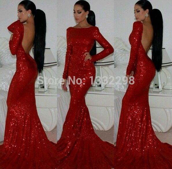 fitted red evening gowns - photo #27