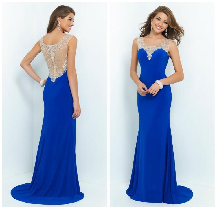hot selling abendkleider lang 2015 sexy elegant formal party for women vestidos de noche royal. Black Bedroom Furniture Sets. Home Design Ideas