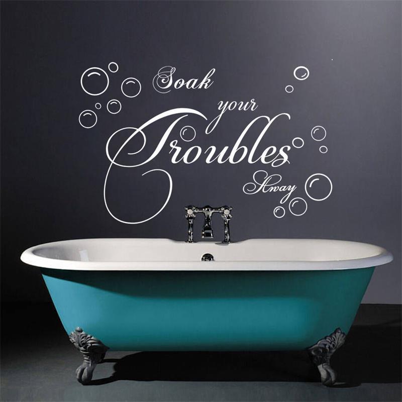 Bathroom Wall Sticker Lettering Soak