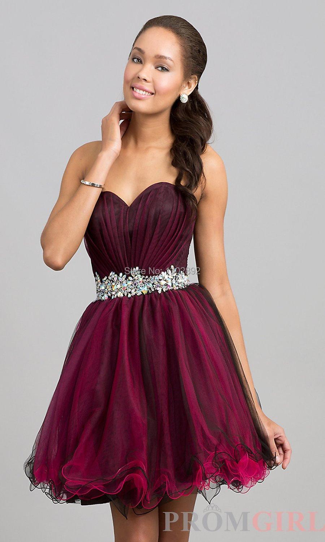 Popular Dark Purple Homecoming Dresses-Buy Cheap Dark ...