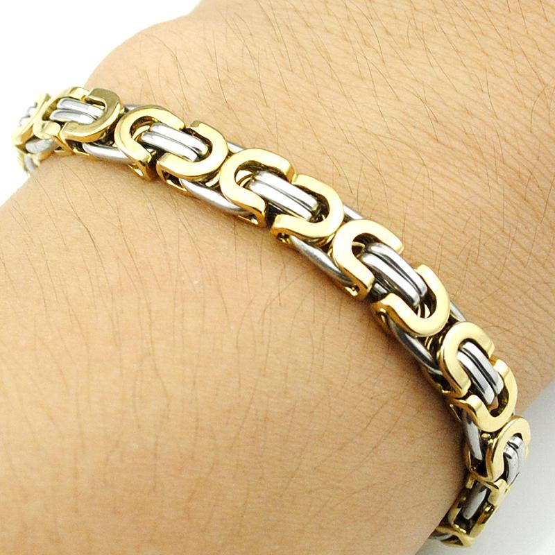 Men s 316L Stainless Steel Bracelet Wristband Hand Chain For Men Jewelry Fashion Byzantine Biker Bicycle