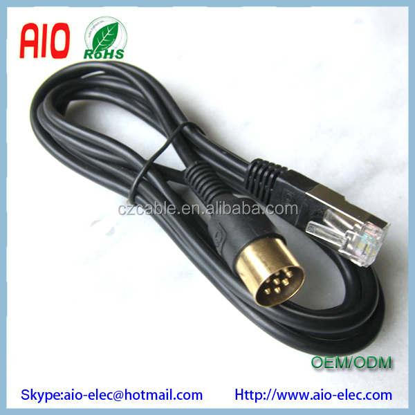 Rj45 Male Plug Powerlink To Traditional Mk2 8 Pin Din