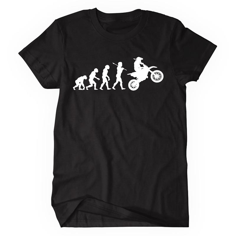 3e38fd395 Summer Fashion Tees Evolution Motocross T Shirts Men Short Sleeve Cotton T- shirt Funny Sports Dirtbike Racing Clothing