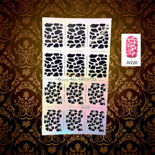 1PC Hot Sale Leopard Print Nail Art Stencil Holo Template Manicure Painting Tool Tips HJV220 Flash