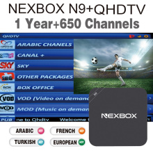 Arabic IPTV Box NEXBOX N9 Rockchip RK3229 Support KODI Wifi H 265 4K  Support 650+HD Channels Arabic France European IPTV Box
