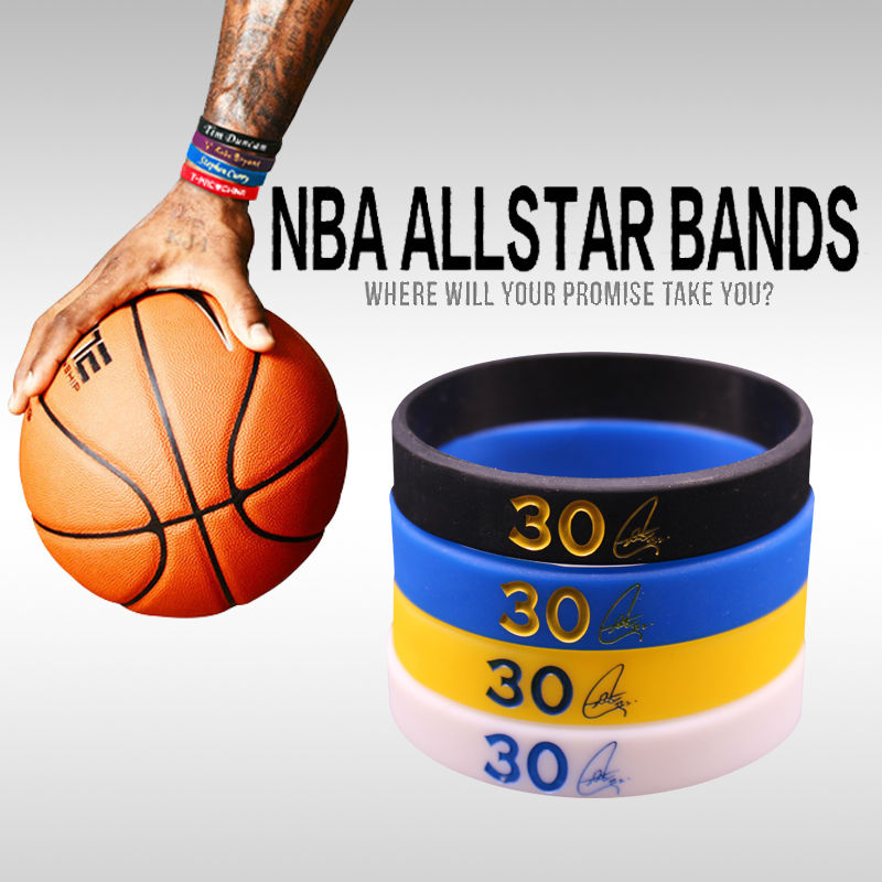 1745e8b245528 Wholesale- 4pcs/lot Golden State Stephen Curry Basketball Bracelets  Professional Silicone Bracelets Wholesale Sport Silicone Wristbands