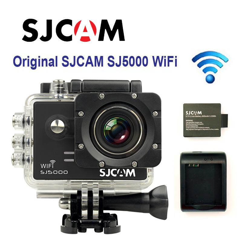 Free shipping!!Original SJCAM SJ5000 WiFi Sport DVR+Extra 1pcs battery+Battery Charger+Car Charger+Holder+Monopod for DV camera