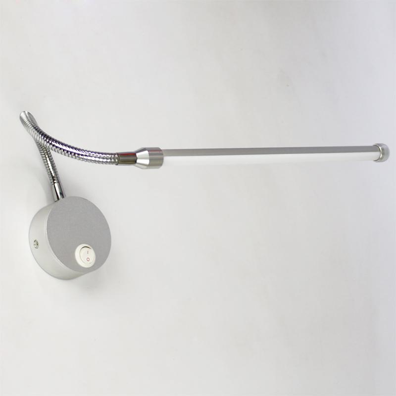 led lecture lampes pour mur avec interrupteur bouton 90 260 v 5 w moderne chambre lampe de. Black Bedroom Furniture Sets. Home Design Ideas
