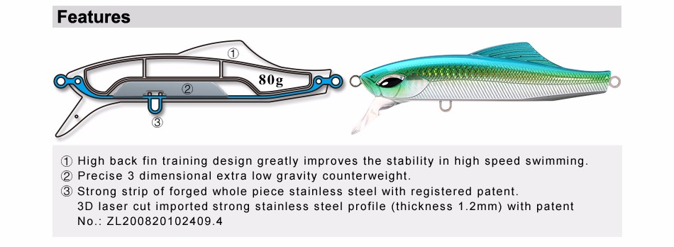 SFT 125mm Artificial Minnow Fishing Lures Tackle Bass Hard Bait Seawater  Long Lasting Fishing Lure 80g Sinking Baits 12 Colors - us260 936cb9424b418