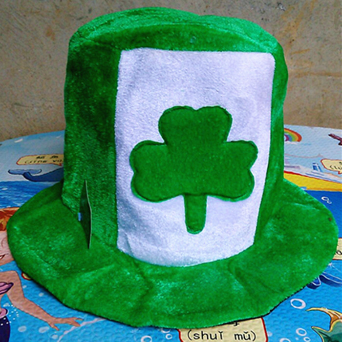 2016 Free shipping Irish Festival Mardi Gras hat St Patrick s Day party hat decorated dance