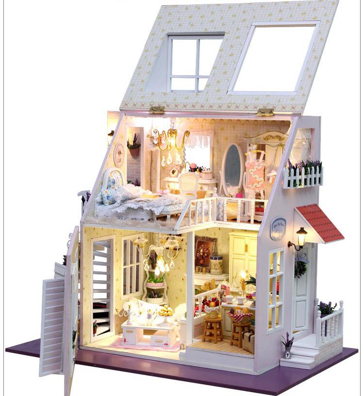 Dollhouse Miniatures Amsterdam: Bricolage W / Lumière Maison De Poupée Miniatures 2 étages