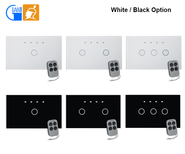 smart home us standard modern led digital touch dimmer wall light switch glass screen panel. Black Bedroom Furniture Sets. Home Design Ideas