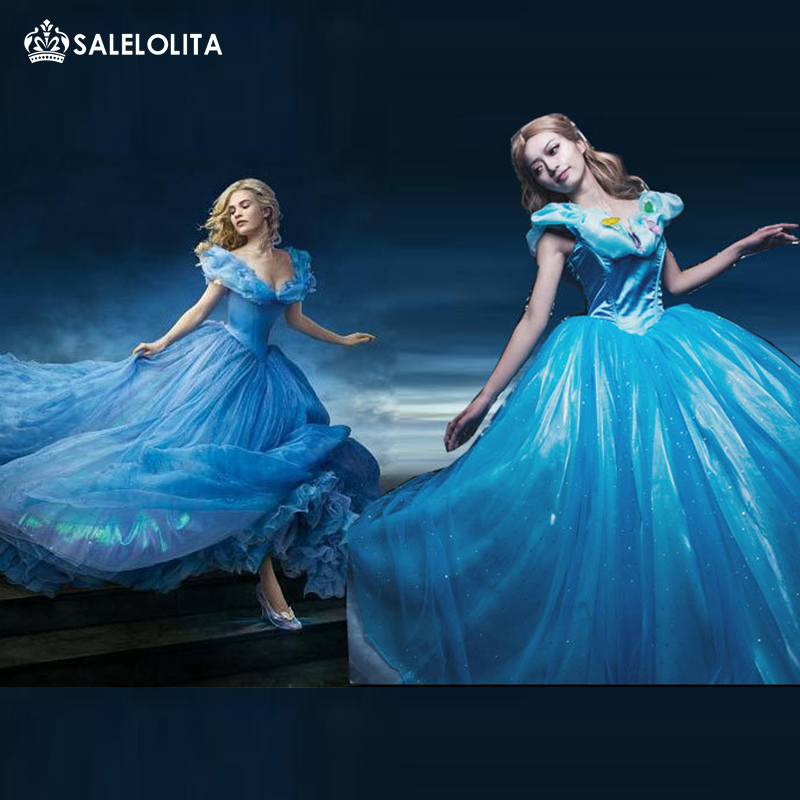 Cinderella 2015 Costumes Girls Dresses Shoes Jewelry: New Cinderella Princess Costume 2015 Cinderella Dress For