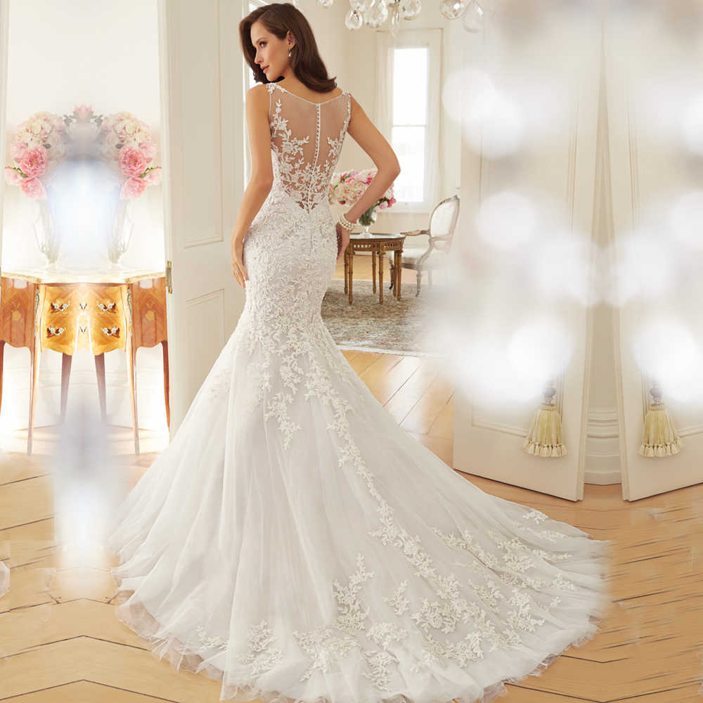 Dreamy Design 2016 Wedding Dresses Lace Mermaid Bridal
