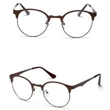 Модные оптические очки, оправа для очков для мужчин и женщин, винтажные очки из прозрачного металла(Китай)