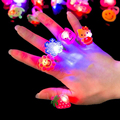 50pcs set ABS The shows props for the Christmas party Light flashing LED ring The shows