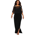 2016 plus size dress womens sexy dresses party night club Sexy black dress autumn Square Collar